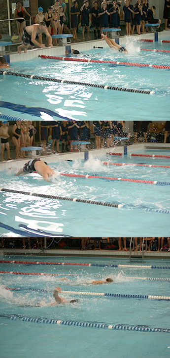 swimming sports 2014 with principal participating